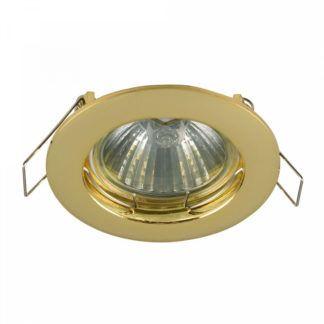 Złote oczko sufitowe Modern - nowoczesne, metalowe