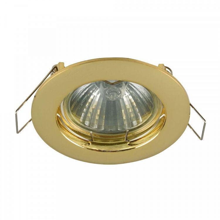 klasyczne oczko sufitowe złote