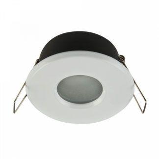 Białe oczko sufitowe Modern - szklany dyfuzor, IP44