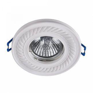 Okrągłe oczko sufitowe Classic - białe, gipsowe