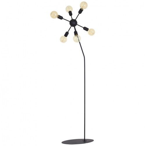 lampa podłogowa czarna sputnik
