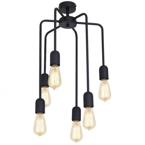 Industrialna lampa wisząca Eko - czarne zwisy