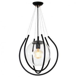 Nowoczesna lampa wisząca From - czarna oprawa