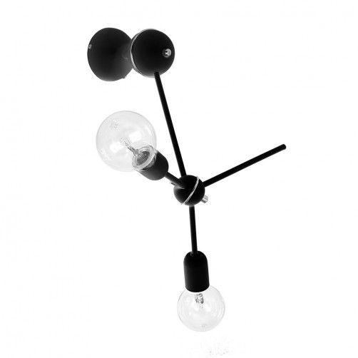 czarny kinkiet atom