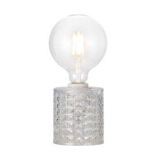 Efektowna lampa stołowa Hollywood - Nordlux - szklana podstawa
