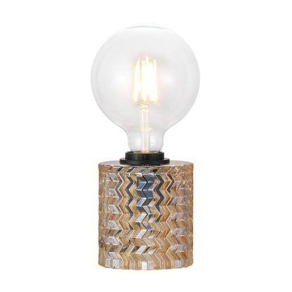 lampa stołowa ze szkła bursztynowego