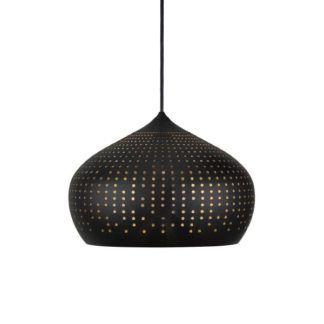 Oryginalna lampa wisząca Houston - Nordlux - czarny klosz z perforacją