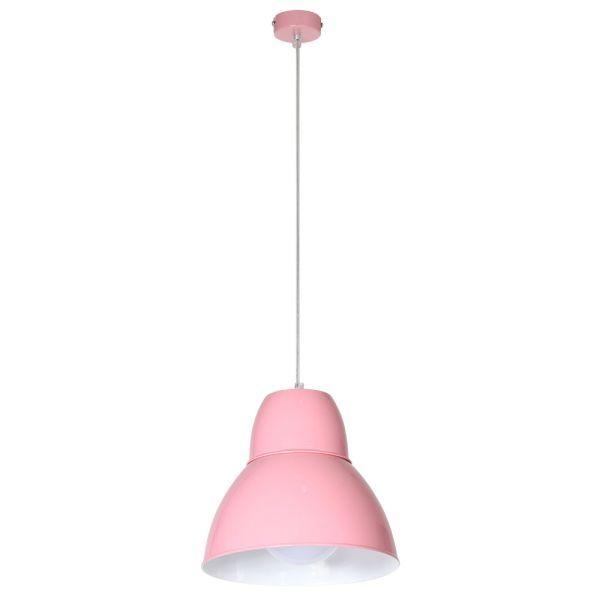 jasnoróżowa lampa wisząca