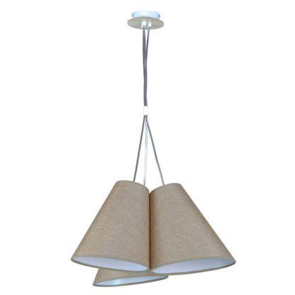 lampa wisząca beżowe abażury