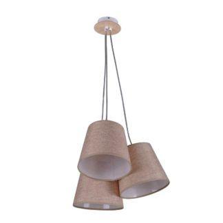 Potrójna lampa wisząca Event - beżowe abażury