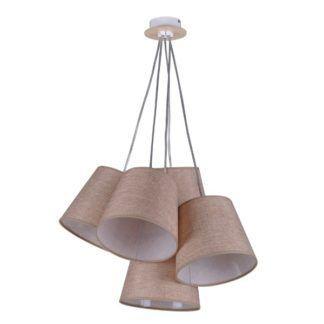 Oryginalna lampa wisząca Event - beżowe abażury