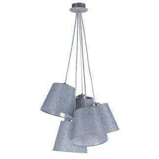 Szara lampa wisząca Event - 5 kloszy, nowoczesna