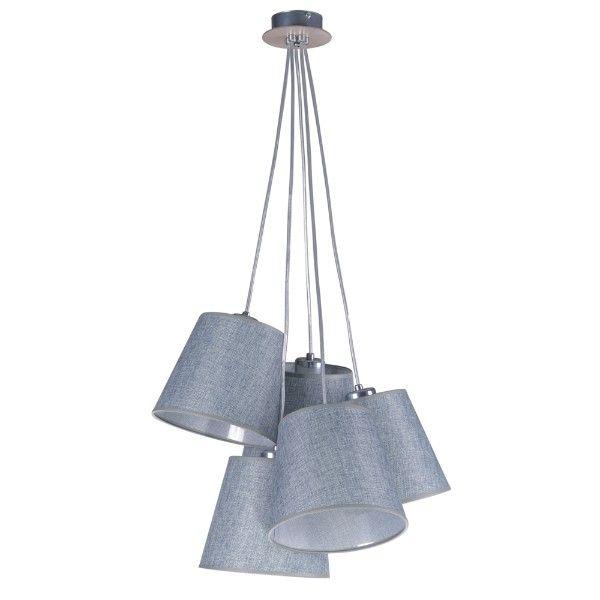 lampa wisząca z wiązką abażurów