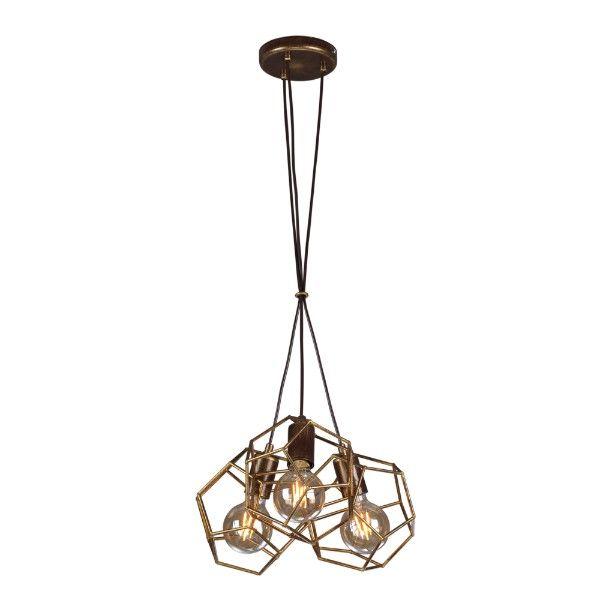 lampa wisząca ażurowe klosze wielościany