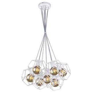 Metalowa lampa wisząca Alicante - 7 drucianych kloszy