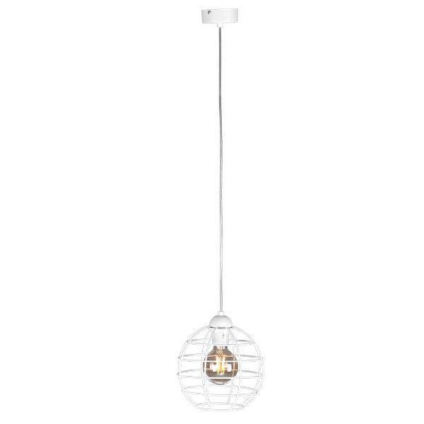 lampa wisząca biały druciak