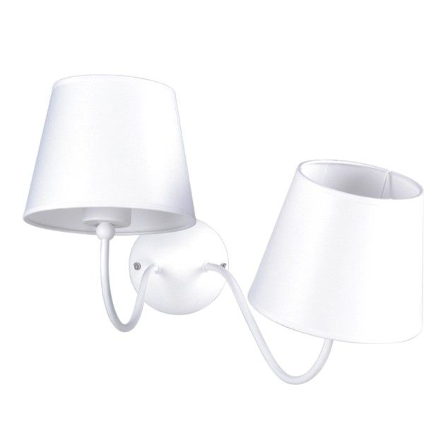 Podwójny kinkiet Siena - asymetryczne ramiona, biały