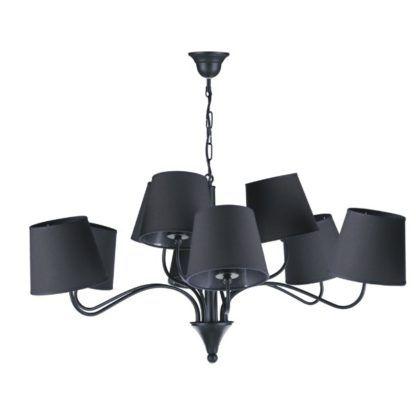 oryginalny nowoczesny czarny żyrandol