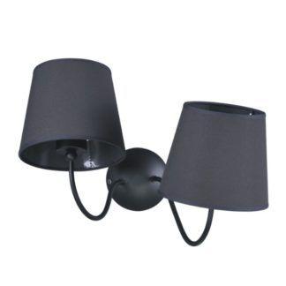 Asymetryczny kinkiet Siena - 2 czarne klosze