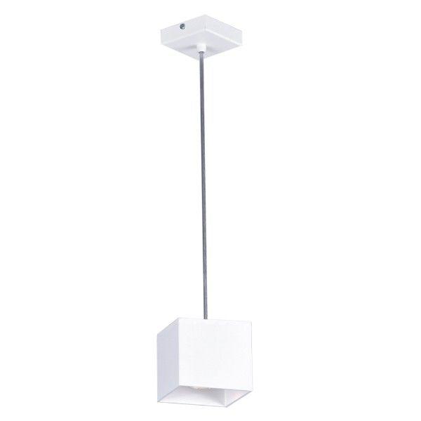 lampa wisząca biały kwadrat