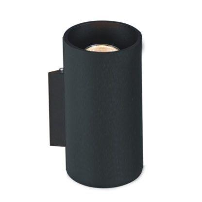 czarny kinkiet tuba nowoczesny