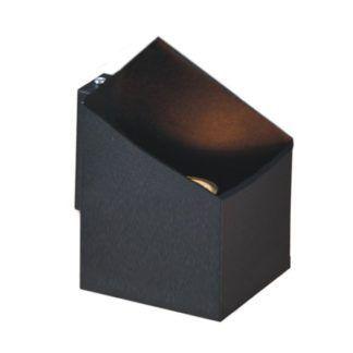 Minimalistyczny kinkiet Kubik - czarny wielościan