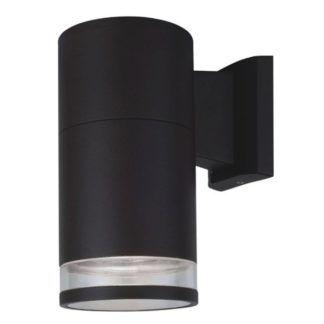 Czarny kinkiet zewnętrzny Masimo - nowoczesny, tuba, IP44