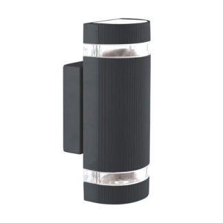 Czarny kinkiet zewnętrzny Taya - podwójne światło, IP44
