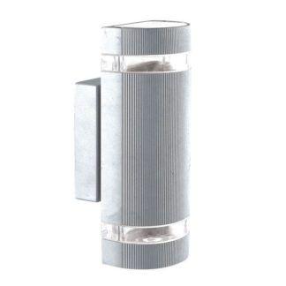 Srebrny kinkiet zewnętrzny Taya - metalowa tuba, IP44