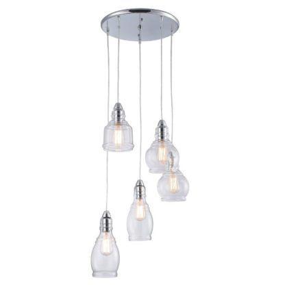 lampa wisząca ze szklanymi kloszami