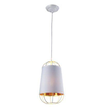 biało-złota nowoczesna lampa wisząca