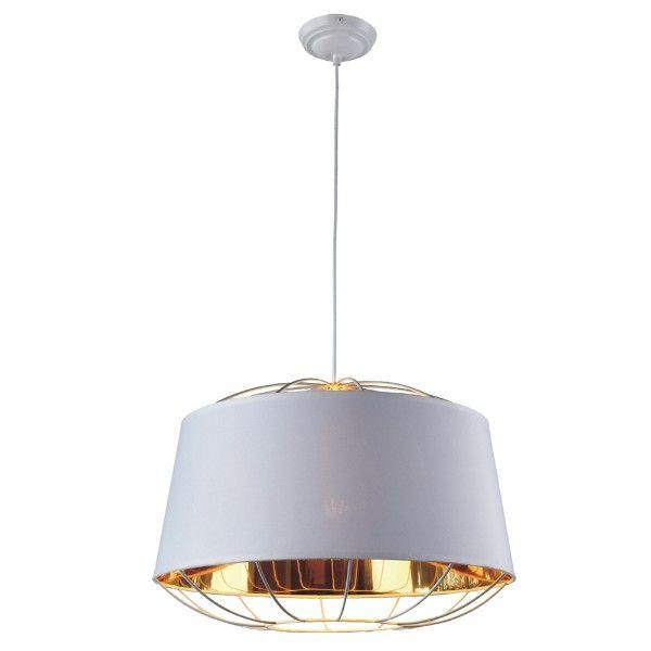 duża biało-złota lampa wisząca