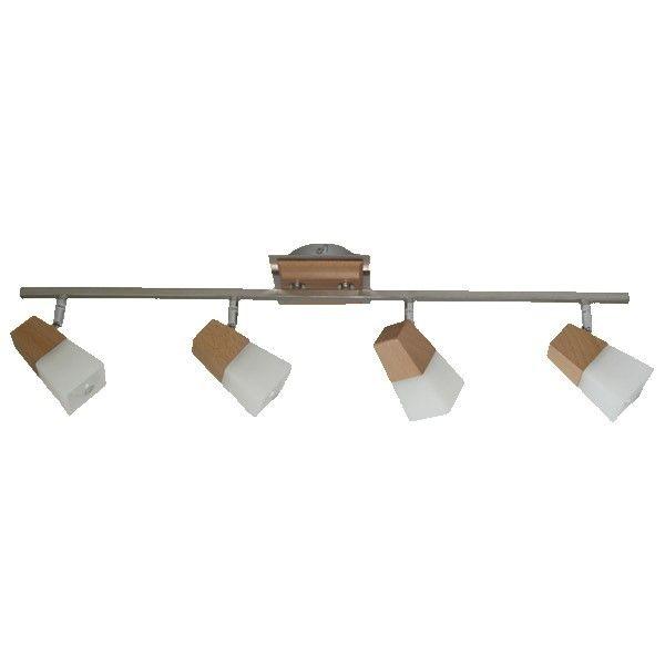lampa sufitowa z drewnianymi elementami