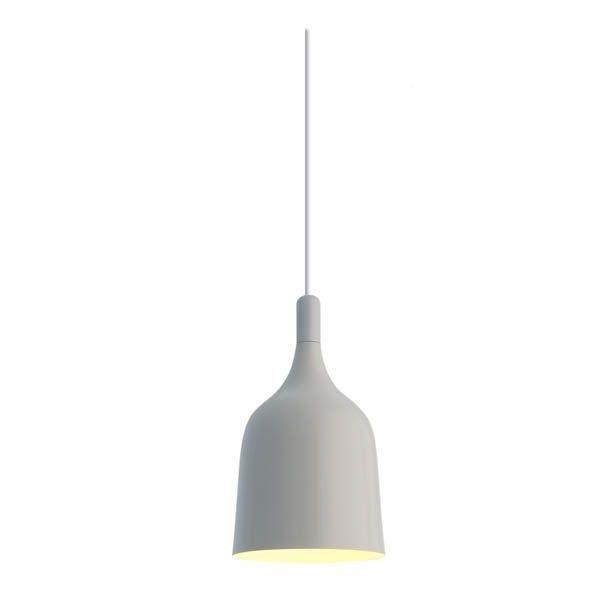 biała metalowa lampa wisząca do kuchni