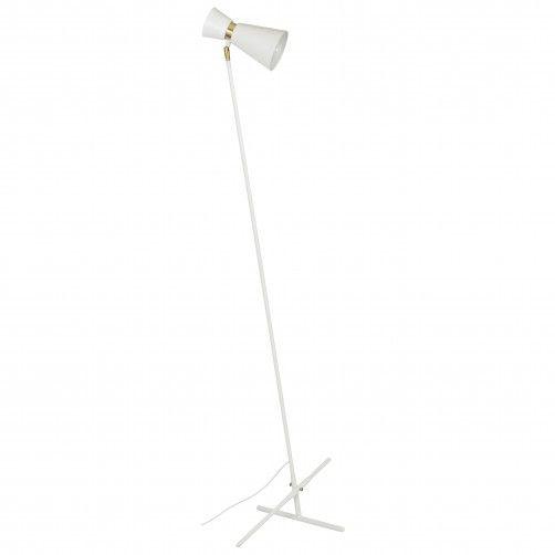 lampa podłogowa biała nowoczesna