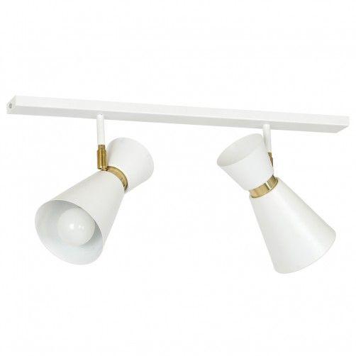 biała lampa sufitowa z reflektorami