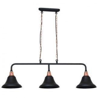 Lampa wisząca Keks - czarne klosze, styl retro
