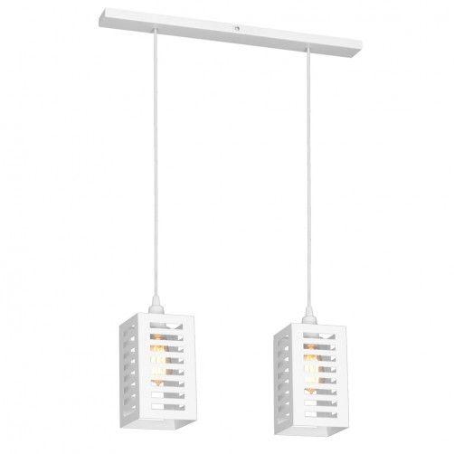 biała lampa wisząca do nowoczesnych wnętrz