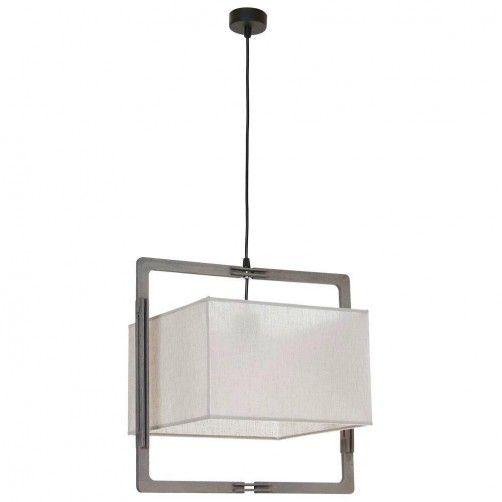 lampa wisząca abażur w drewnianej ramie