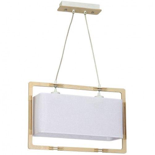 podłużna lampa wisząca nad stół skandynawska