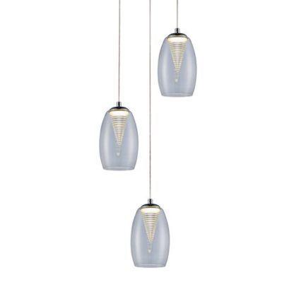 potrójna lampa wisząca szklane klosze