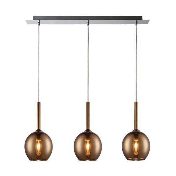 lampa wisząca nad stół miedziane klosze