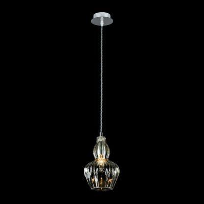nieduża lampa dekoracyjna ze szkła
