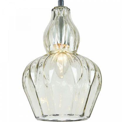 elegancka lampa wisząca z barwionego szkła