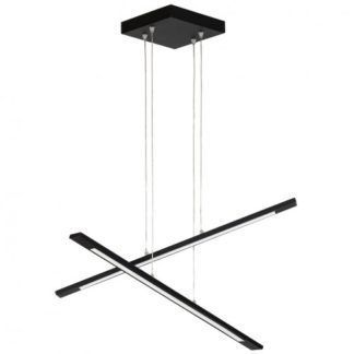 Nowoczesna lampa wisząca Moderno - czarne listwy, LED