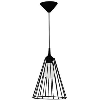 czarna druciana lampa wisząca