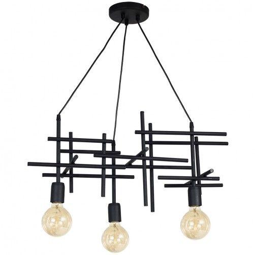 druciana czarna lampa wisząca nowoczesna