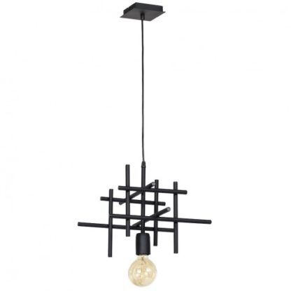 Pojedyncza lampa wisząca Onuris - czarna, metalowa