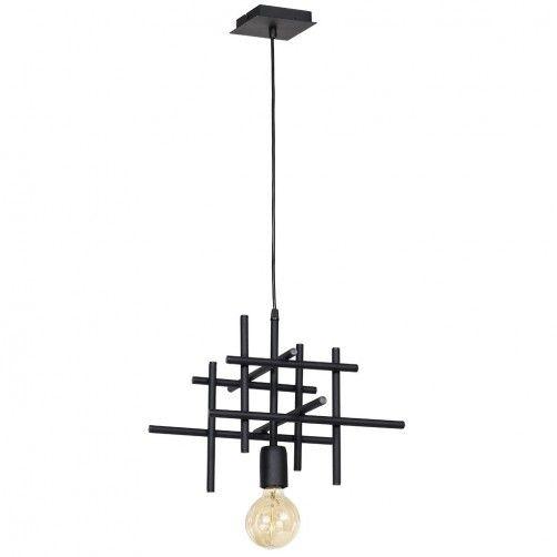 lampa wisząca z drucianą oprawą nowoczesna