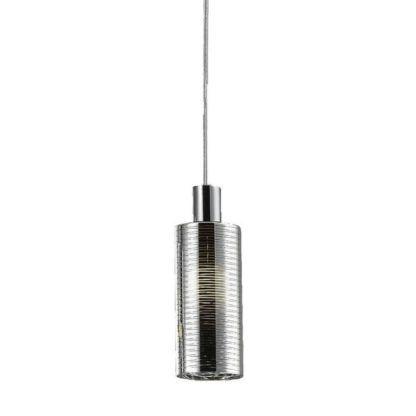 lampa wisząca szklany klosz w prążki